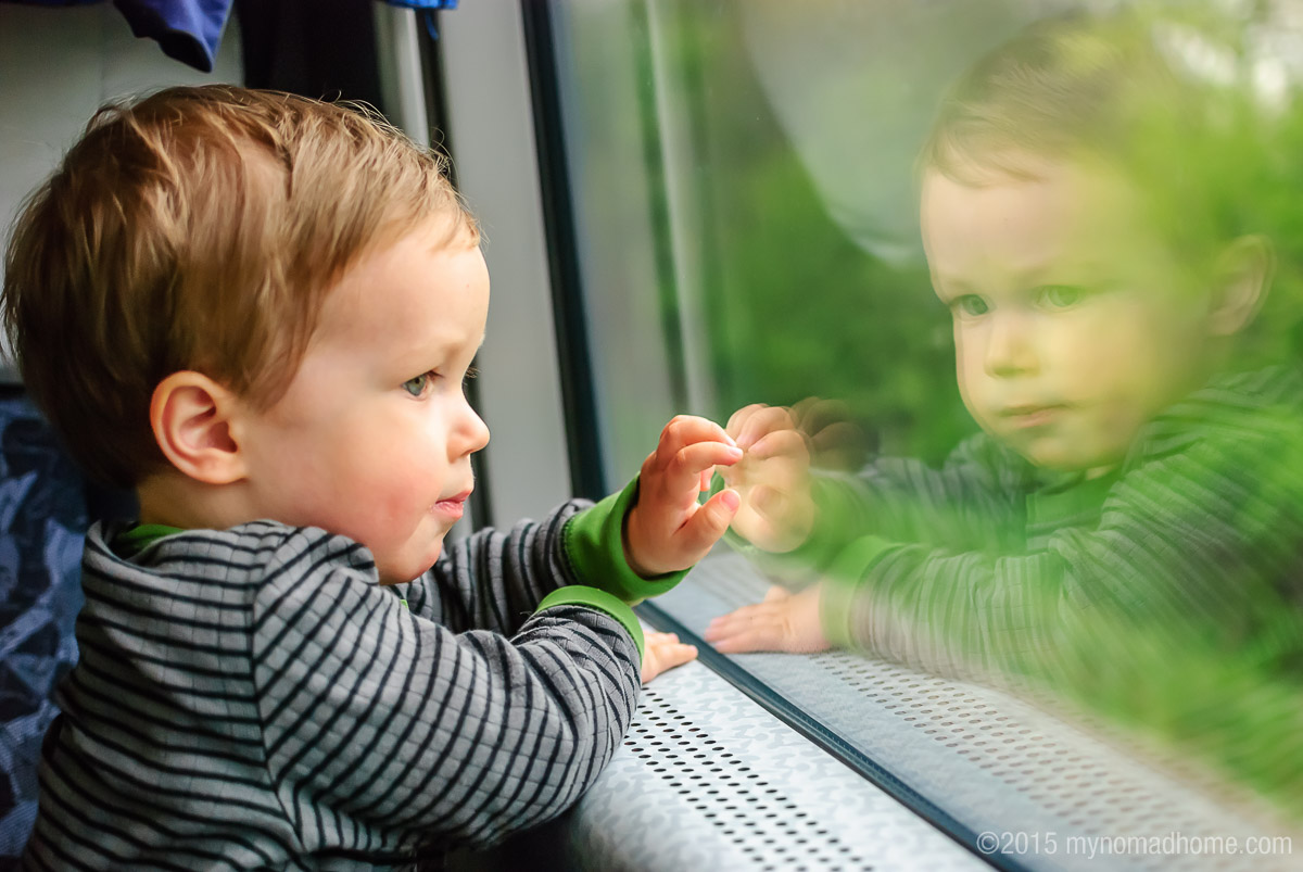 traveling by train with a toddler