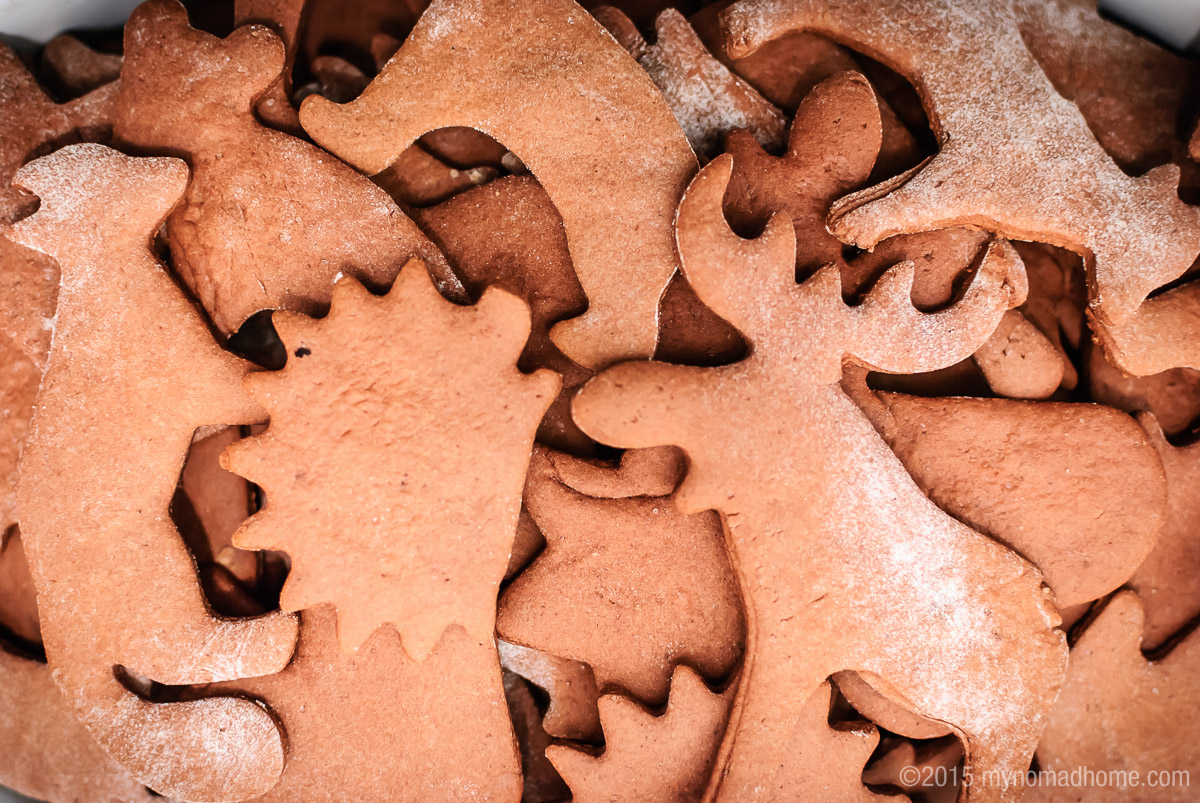 home-made gingerbread cookies